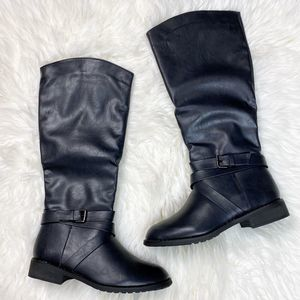 Bucco | Black Mid-Calf Riding Boot Size 8 1/2
